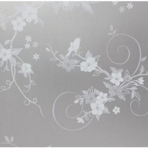 玻璃贴膜贴纸浴室卫生间阳台窗户门贴纸纯磨砂带花防