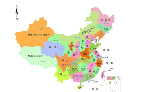 福建省简版地图